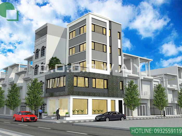 (2)Thiết kế kiến trúc nhà phố hiện đại của Doorway