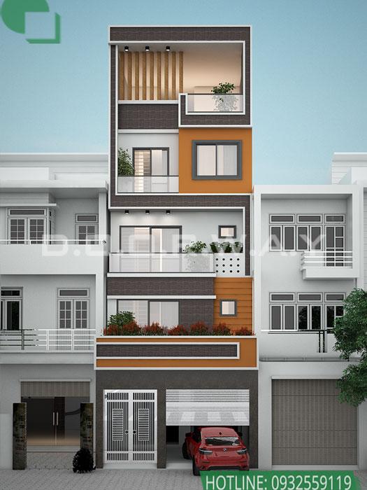 (3)Thiết kế kiến trúc nhà phố hiện đại của Doorway