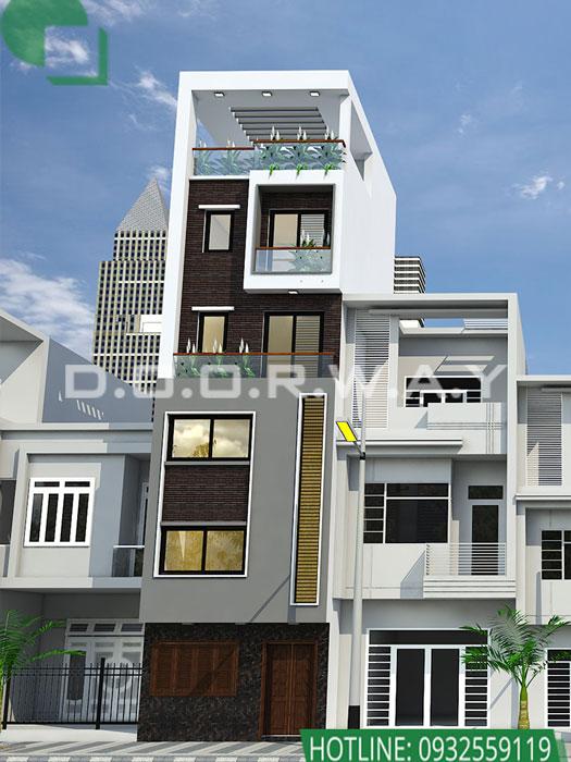 (4)Thiết kế kiến trúc nhà phố hiện đại của Doorway