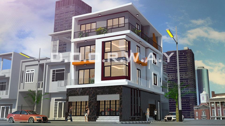 Thiết kế kiến trúc nhà phố hiện đại của Doorway