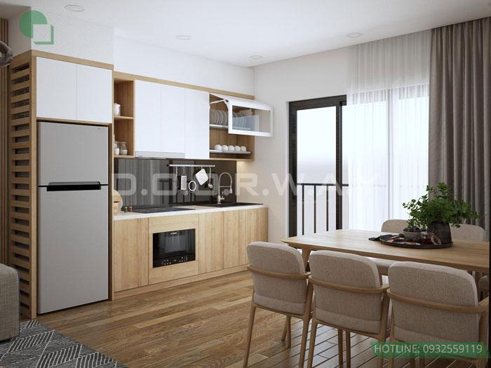 (4)Thiết kế nội thất chung cư 45 m2 đẹp hiện đại