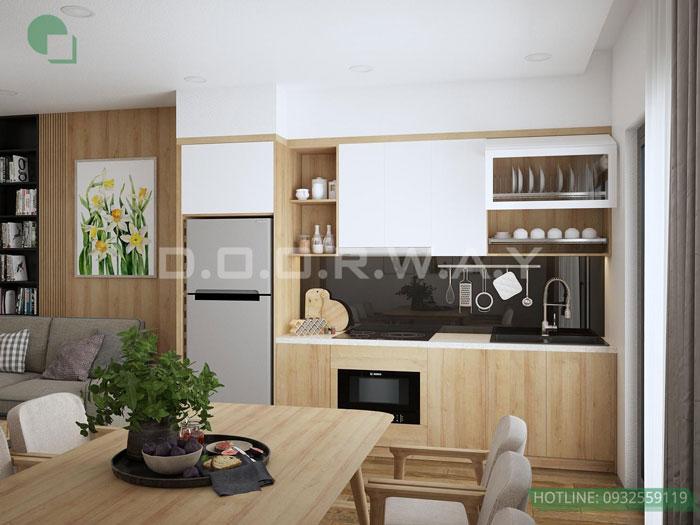 (5)Thiết kế nội thất chung cư 45 m2 đẹp hiện đại