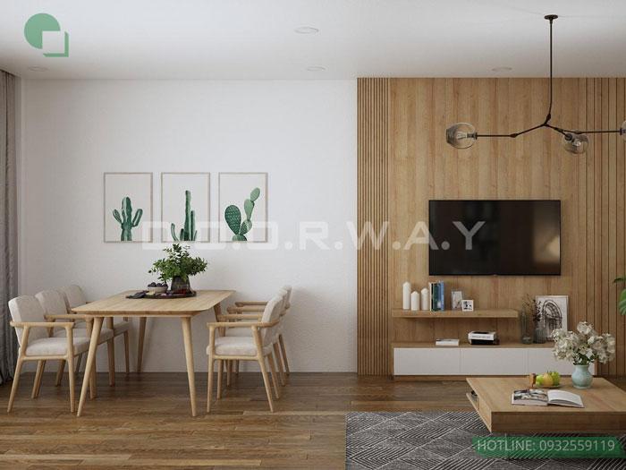 (6)Thiết kế nội thất chung cư 45 m2 đẹp hiện đại