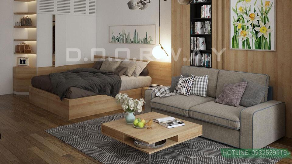 Thiết kế nội thất chung cư 45 m2 đẹp hiện đại