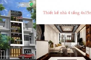 Ảnh tiêu biểu - Thiết kế nhà 4 tầng 4x15m