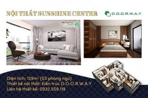 Ảnh tiêu biểu- Thiết kế nội thất căn 129m2 Sunshine Center - 3PN hiện đại