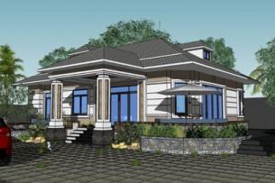 Mẫu biệt thự nhà vườn 1 tầng | Thiết kế biệt thự đẹp by kiến trúc Doorway ảnh tiêu biểu