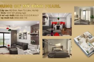 ảnh tiêu biểu - thiết kế căn hộ 50m2 1 phòng ngủ Mỹ Đình Pearl - Nội thất chung cư đẹp by kiến trúc Doorway