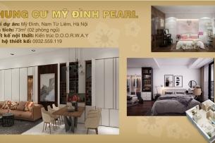 Ảnh tiêu biểu - phương án thiết kế nội thất căn hộ 2 phòng ngủ Mỹ Đình Pearl