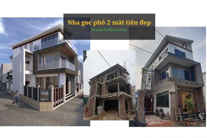 Ảnh tiêu biểu- Trọn bộ thiết kế nhà góc phố 2 mặt tiền đẹp - Xu hướng 2020
