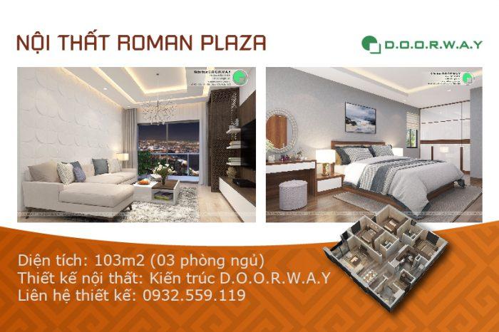 Ảnh tiêu biểu- Xem mẫu nội thất căn 103m2 Roman Plaza với 3PN đẹp
