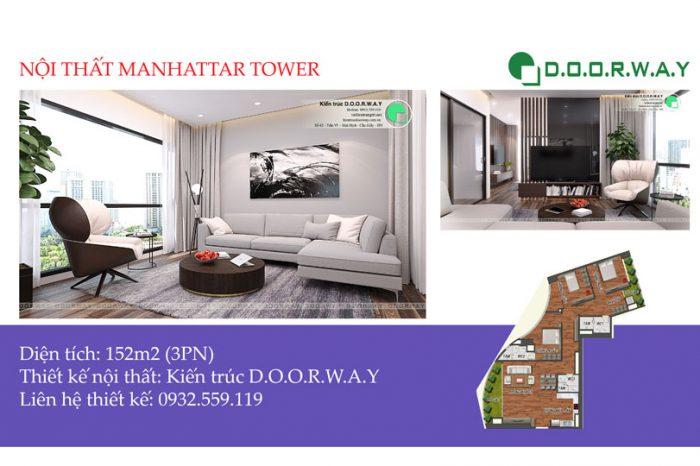 Ảnh tiêu biểu - Xem trọn nội thất căn 152m2 Manhattan Tower | 2020