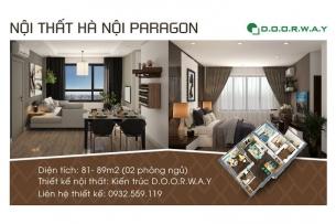 Ảnh tiêu biểu- Thiết kế nội thất căn 2 phòng ngủ Hà Nội Paragon