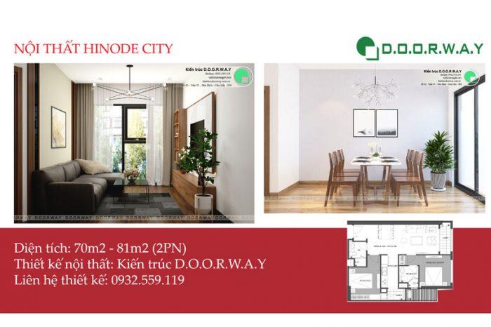 Ảnh tiêu biểu - Ấn tượng với nội thất căn 2 phòng ngủ Hinode City | 2020
