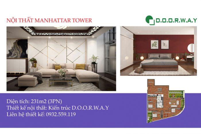 Ảnh tiêu biểu - [Hot] Thiết kế nội thất căn 231m2 Manhattan Tower