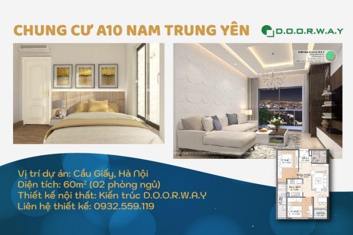 Ảnh tiêu biểu- Mẫu thiết kế nội thất căn 60m2 A10 Nam Trung Yên - Căn hộ đẹp 2019