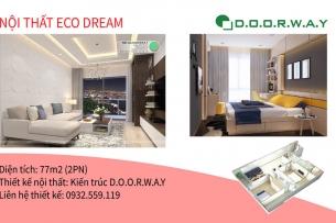 Ảnh tiêu biểu- [Căn 2PN đẹp] Thiết kế nội thất căn 77m2 Eco Dream 2019