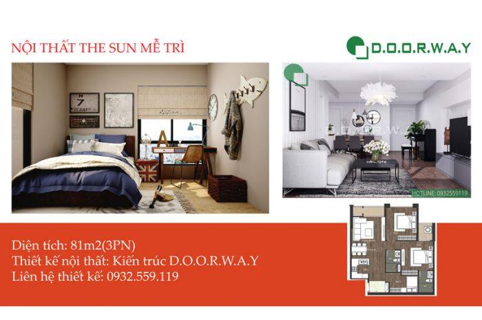 Ảnh tiêu biểu - Ý tưởng hay cho nội thất căn 81m2 The Sun Mễ Trì