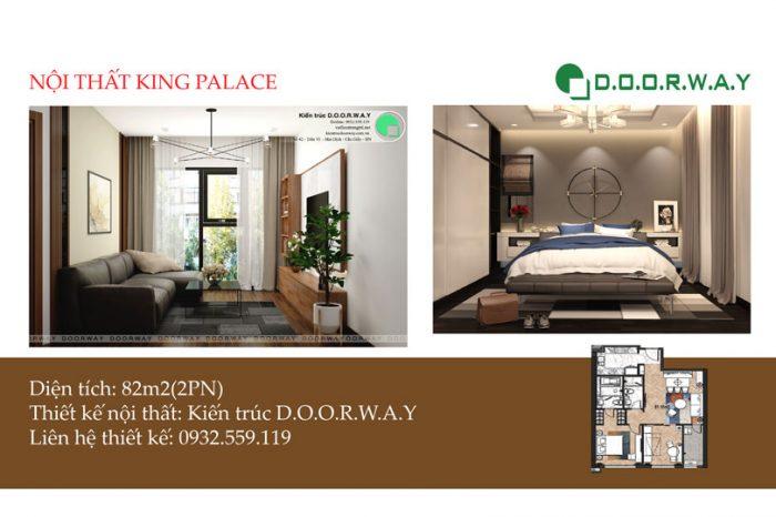 Ảnh tiêu biểu- [HOT] Thiết kế nội thất căn 82m2 King Palace đẹp mê mẩn