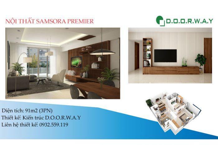 Ảnh tiêu biểu- Mẫu nội thất căn 91m2 Samsora Premier có gì đặc biệt?