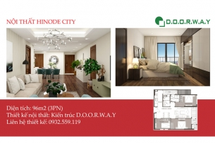Ảnh tiêu biểu - Thiết kế nội thất căn 96m2 Hinode City với 3PN đẹp
