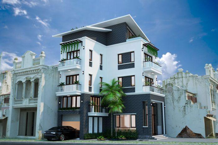 Ảnh tiêu biểu- Thiết kế biệt thự hà nội 150m2 nổi bật với phong cách hiện đại