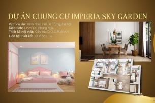 Ảnh tiêu biểu- Khám phá mẫu thiết kế căn hộ 105m2 Imperia Sky Garden - Căn hộ 3PN