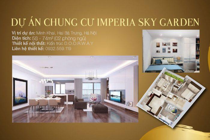 Ảnh tiêu biểu- Thiết kế căn hộ 2 phòng ngủ Imperia Sky Garden dành cho vợ chồng trẻ