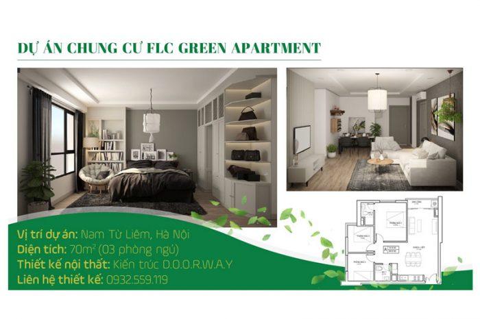 Ảnh tiêu biểu- Thiết kế căn hộ 70m2 FLC Green Apartment - Căn hộ 3 phòng ngủ