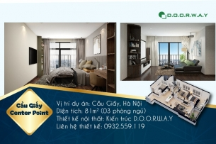 Ảnh tiêu biểu- Xem mẫu thiết kế nội thất căn hộ 81m2 Cầu Giấy Center Point - 3PN