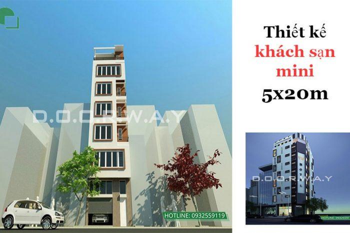 Ảnh tiêu biểu 1 - Tư vấn thiết kế khách sạn mini 5x20 hiện đại tiện nghi thu hút khách du lịch