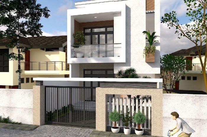Ảnh tiêu biểu- Ý tưởng thiết kế nhà 5x18m 2 tầng theo phong cách hiện đại