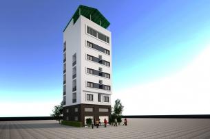 Ảnh tiêu biểu- 5 tuyệt tác thiết kế nhà cao tầng cho thuê - Trọ như ở chung cư
