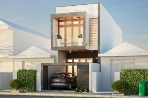 Anhtieubieu- Thiết kế nhà lô phố 2 tầng: tối ưu không gian sống hoàn hảo