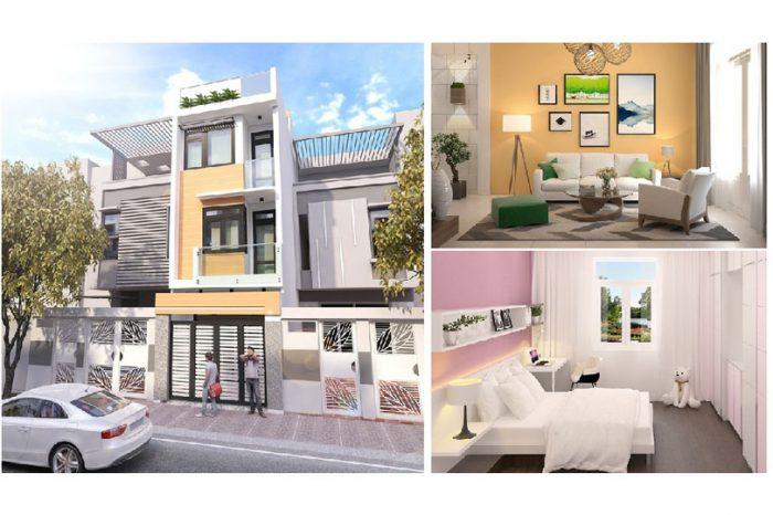 Anhtieubieu- Tham khảo các thiết kế nhà phố đẹp mặt tiền 4m hiện đại
