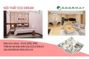 Ảnh tiêu biểu- Thiết kế nội thất căn hộ Eco Dream với đầy đủ mẫu phòng đẹp
