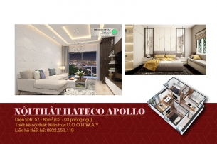 Ảnh tiêu biểu- thiết kế nội thất căn hộ Hateco Apollo - nhiều mẫu đẹp 2019