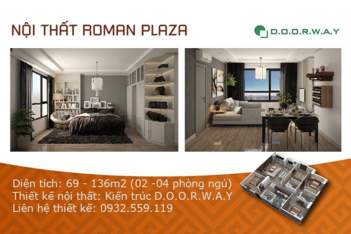 Ảnh tiêu biểu- Gợi ý mẫu thiết kế nội thất căn hộ Roman Plaza - 2PN, 3PN