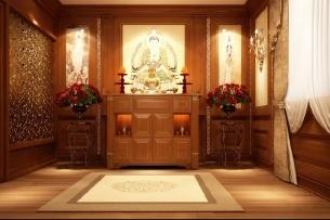 Ảnh tiêu biểu- Các mẫu trang trí nội thất phòng thờ tôn nghiêm và hợp phong thủy