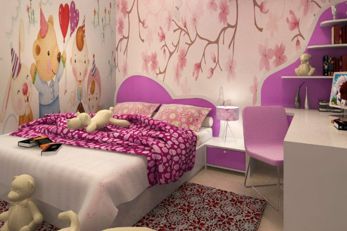 Ảnh tiêu biểu- Gợi ý 7 mẫu phòng ngủ trẻ em màu hồng bé nào cũng thích mê