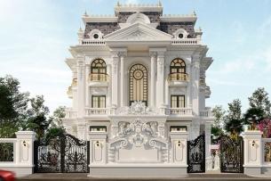 ảnh tiêu biểu - thiết kế biệt thự kiến trúc Pháp