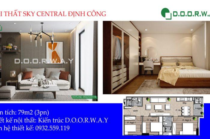 Thiết kế nội thất căn 79m2 Sly Central